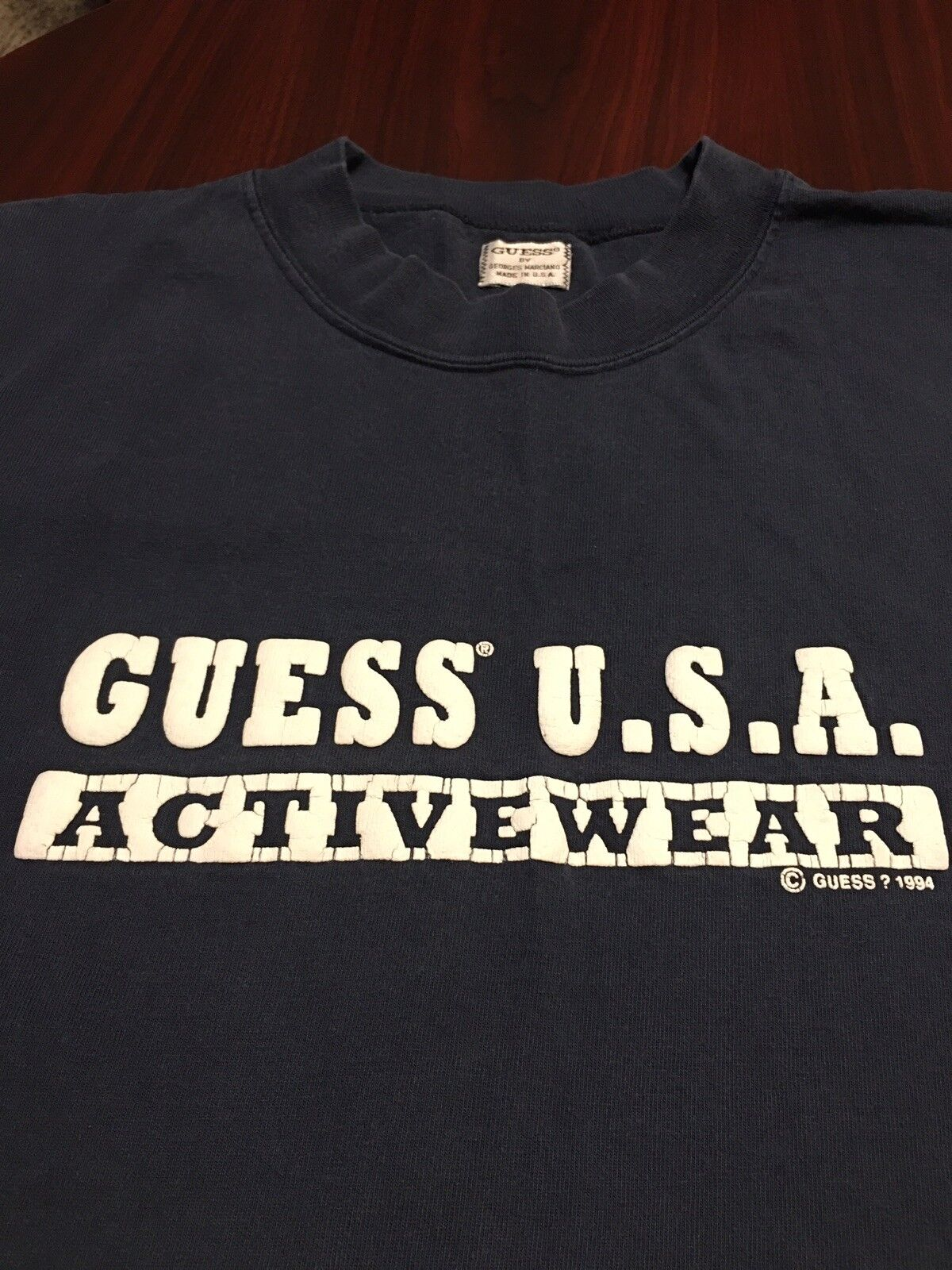 Vintage 90's GUESS USA Activewear 1994  Herren Spell Out T Shirt Extra Large XL