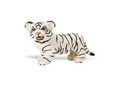 Animals & Dinosaurs White Bengal Tiger Baby 6 Cm Series Wild Animals Safari Ltd 295029 Action Figures