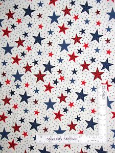 Patriotic Eagle Flag Red Blue Cotton Fabric Riley Blake Lost Found America Yard
