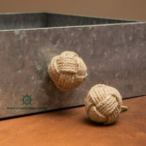 Jute Rope Door Knobs Set of 12//Pull and Push Handle Knobs for Cabinets