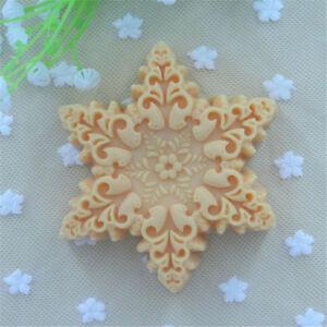 High-Grade-Snowflake-Design-3D-Soap-Mold-Chocolate-Fondant-Molds-Handmade-G1