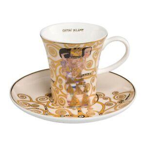 Goebel-Die-Erwartung-Espressotasse-Artis-Orbis-Gustav-Klimt-Bunt-Fine-Bone-China