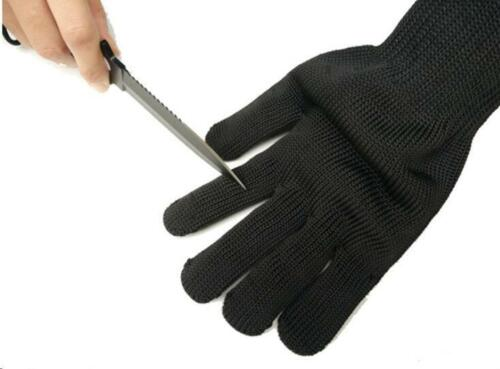 Cut-Resistant Safety Gloves 1//Pair Black Working Protective Stainless Steel Wire