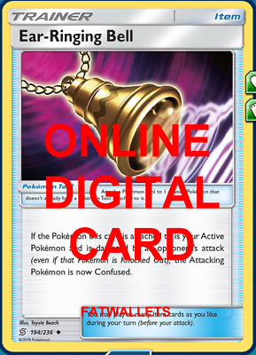 Pokemon SM11 Unified Minds Ear Ringing Bell 194//236 Trainer Card x4 Playset