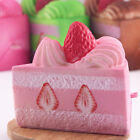 Hot Cute Squishy Strawberry Layer Cake Phone Straps Cream Perfume Slow Rising RE