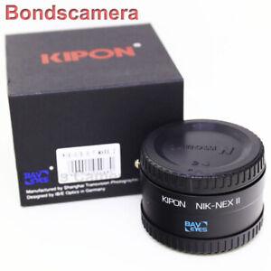 Details about Kipon Baveyes 0 7x NIK-NEX II Reducer Adapter Nikon F Mount  Lens to Sony E A6300