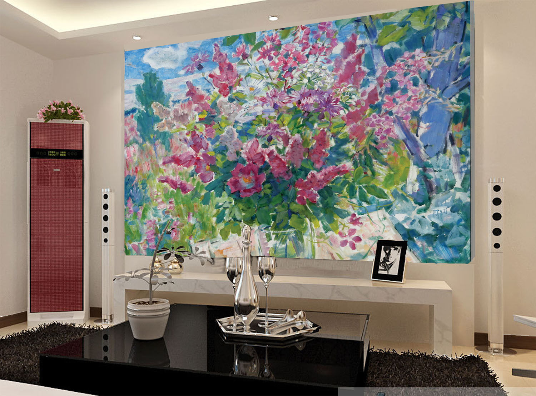 3D Schöne Farbmalerei 209 Fototapeten Wandbild Fototapete BildTapete FamilieDE
