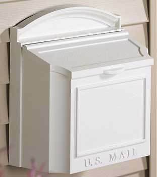 Whitehall Products MAILBOX Oversized Wall Door Solid Plain Front