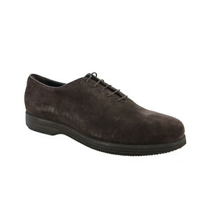 giorgio armani brown suede lace up casual shoes us 12