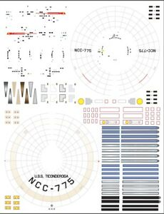 Ticonderoga-NCC775-1-1000-Polar-Lights-Star-Trek-TOS-enterprise-model-kit-decals