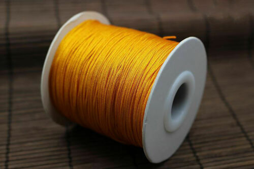 0.8mm Nylon Cord Thread Chinese Knot Macrame Rattail Bracelet String 135Yard