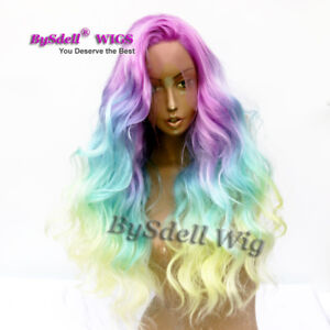 Details about Unicorn Rainbow Hair Wig Body