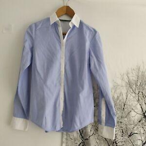 zara blue shirt women's