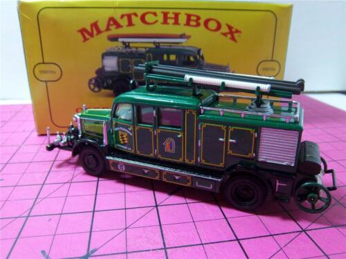 Matchbox Yesteryear~YFE07/SA -MILITARY~1938 M. BENZ KS15 FIRE TRUCK~OBENDORF~MIB