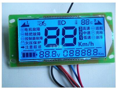 Car multifunction Voltmeter thermometer speedometer For 48V 60v 72v Auto 48-96V