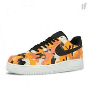 ae971ffb7689 Nike Air Force 1 AF1 Low TEAM ORANGE COUNTRY CAMO BLACK WHITE 823511 ...