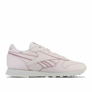 Women's Reebok Classics Classic Leather Lightweight Cushioned Trainers in Pink