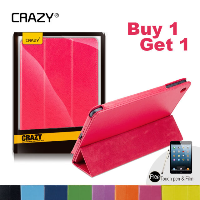 2 x iPad 4 3 2 Case for Apple - Premium PU Leather folding Stand Smart Cover