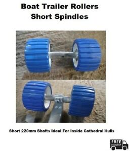 Short Spindle Non-Marking Cathedral Hull Galvanised Boat Trailer Rollers