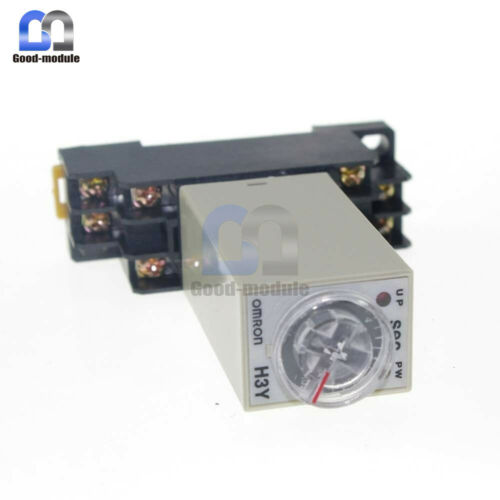 AC 220V 1-30 Minute H3Y-2 Base Power On Time Delay Solid-State Timer Relay DPDT
