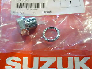 Details about Genuine Suzuki Oil Drain Plug Bolt and Washer GSXR600 GSXR750  GSXR1000 GSXS1000