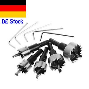 5-X-16-30mm-HSS-Bohrer-Lochsaege-Zahn-Cutter-Set-Fuer-Stahl-Holz-Metalllegierung