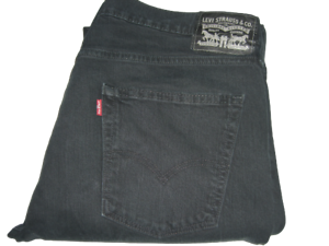 Mens Levi's 511 Slim Fit Black (0168) Stretch Denim Jeans W30 L30