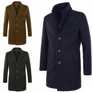 Cappotto-Uomo-Casual-Giubbotto-Invernale-Cappottino-Elegante-Giacca-Slim-Veque