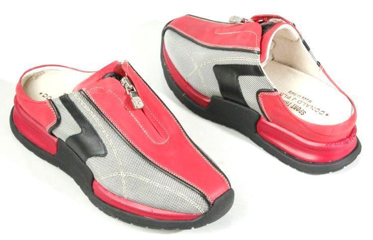New DONALD J J J PLINER Grado red athletic AIR slides mules shoes  - comfortabl 0ec0ba