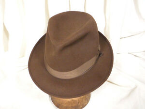 2b4f2f6f70c Image is loading Vintage-Champ-Featherweight-Brown-Kasmir-Finish-Fedora-Hat-