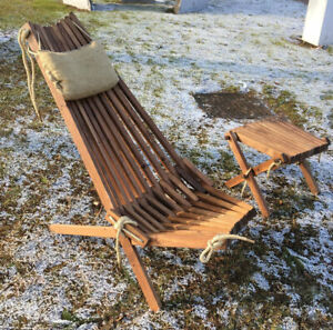 Details About Wooden Patio Chair Recliner Foldable Garden Lounge Seat Natural Wood Furniture