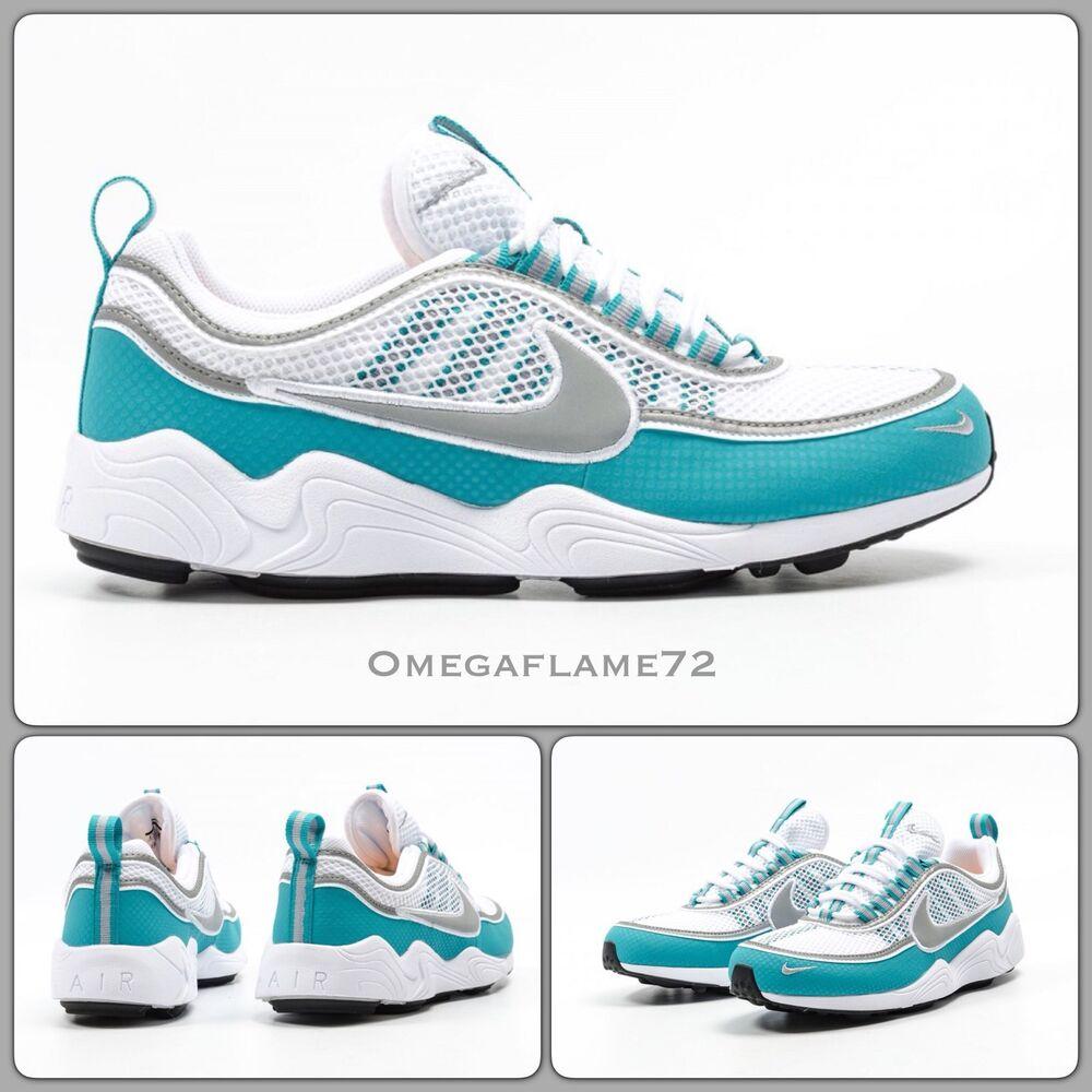 Nike Zoom Spiridon, blanc, turquoise & gris clair 849776-102, UK 9, EUR 44, US 10-