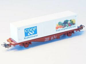 4673-MARKLIN-HO-Swedish-SJ-Container-Refer-car-034-COOP-034