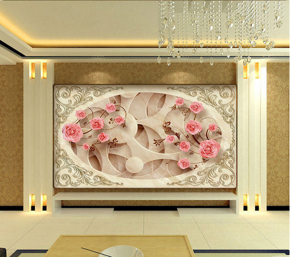 3D Rosen-Kunst-Muster 732 Tapete Wandgemälde Tapete Tapeten Bild Familie DE