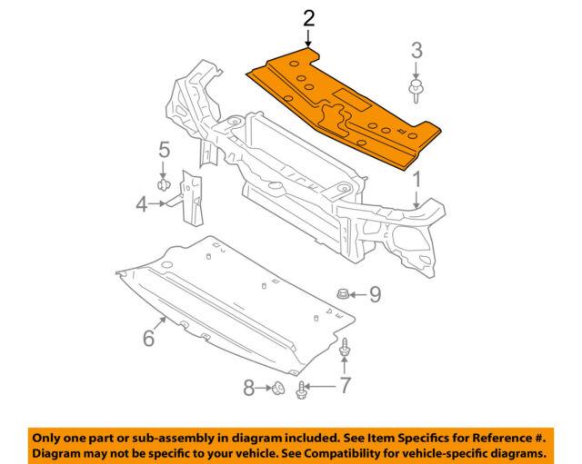 2005 2009 Ford Mustang Gt V8 Base V6 Upper Radiator Shield Cover Oem