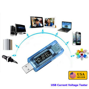 LCD USB Charger Capacity Current Voltage Tester Meter Phone Power Bank Detector