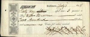 1848 Baltimore Maryland (MD) Contract Man Broken James Duhamel