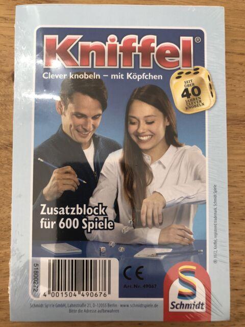 Schmidt Spiele 49067 KNIFFELBLOCK Ersatzblock für 600 Spiele  NEU !!