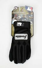 Franklin MLB Youth Series Batting Gloves 1 Pair Black Youth Large 10251F4