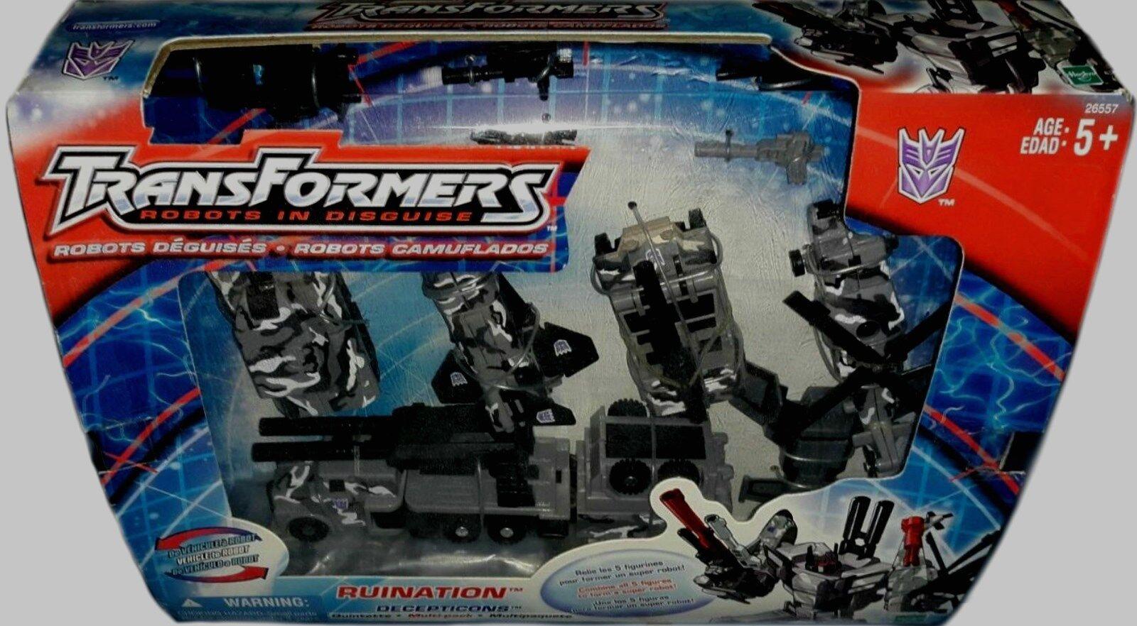 Transformers Robots in Disguise ruina Combinador Robot Nuevo Sellado De Fábrica 2002
