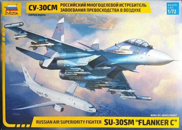 SUKHOI Su-30SM FLANKER-C (BIPLACE) ZVEZDA PLASTIC KIT 1 72