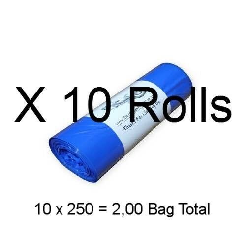 Dog Waste Bags 2500 on 10 Rolls Printed Biodegradable Doggie Poop 8 X 14 #20