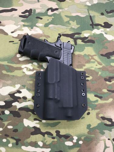 """Black Kydex Holster 4.25/""""  Sig Square Slide 1911 TB Surefire X300 Ultra A Model"""