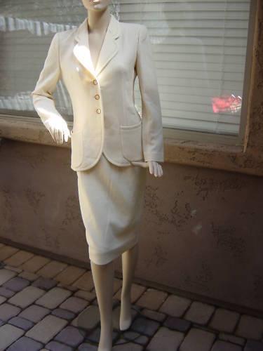 EMANUEL UNGARO Blazer Pencil Skirt Outfit (size 8)