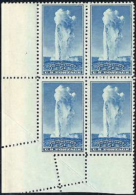 """United States #744 Var """"5¢ Yellowstone"""" With Major Fold Over Error Bp1606"""