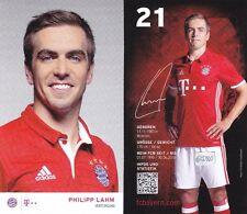 Philipp Lahm + FC Bayern München + Saison 2016/2017 + Autogrammkarte + AK70 +