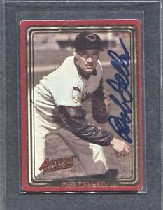 1993-Action-Packed-110-Bob-Feller-Signed-Card-Indians-Flat-Rate-Ship