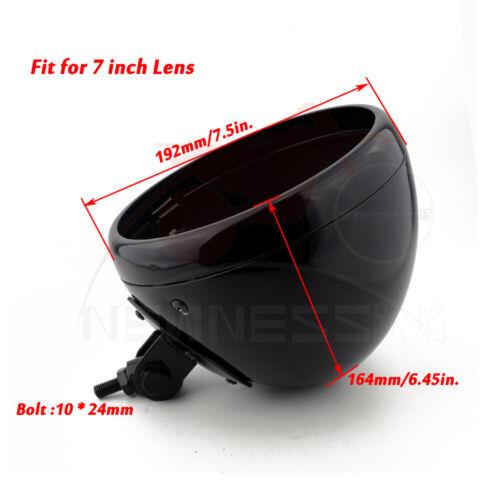 "Motorcycle 7/"" Headlight Housing Headlamp Light Cover Bucket Shell For Harley LED"