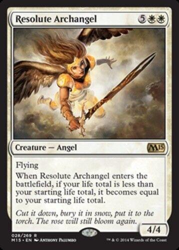 Japanese Resolute Archangel MTG NM-Mint M15 Magic 2015