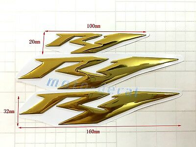 Silver PRO-KODASKIN Motorcycle 3D Raise R1 Emblem Stickers Decal for Yamaha YZF1000 R1